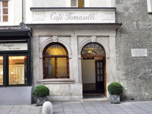 """The entrance to the """"Tomaselli Stüberl"""""""
