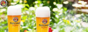 Paulaner a famous brand from Munich with very special glasses
