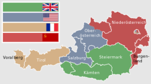 Austria decided into four zones
