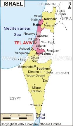 karte-von-israel